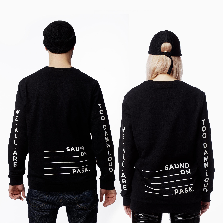 Damn.Loud — Saund on Pask (Crewneck) Back